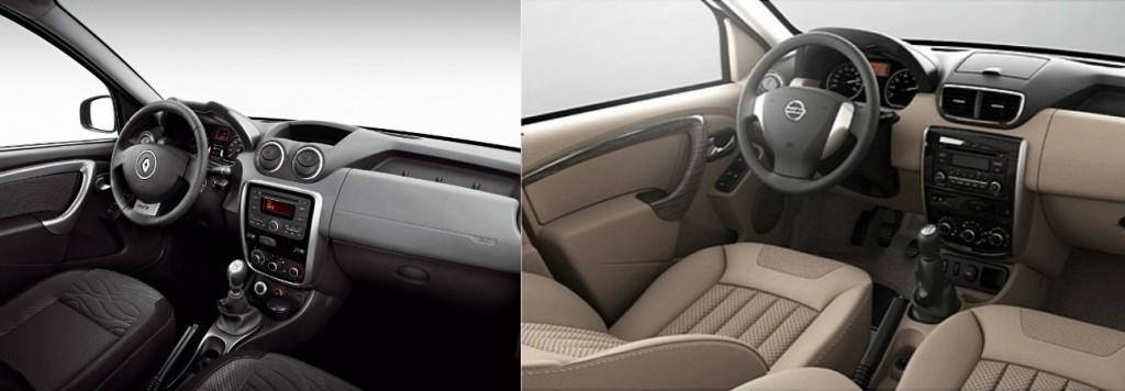 Сравнение интерьера Renault Duster и Nissan Terrano