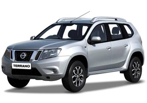 Nissan Terrano в серебристом цвете кузова